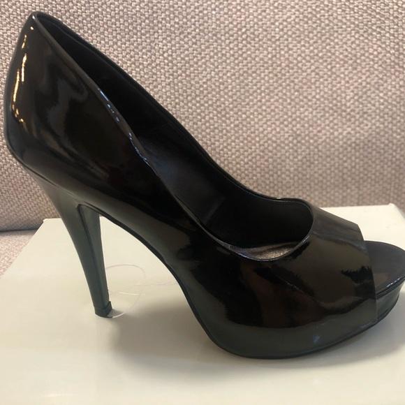 57aeb56d625 Jessica Simpson Shoes - New Jessica Simpson black patent leather peep toe